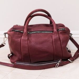 Zara Double Zip Leather Duffle Bag